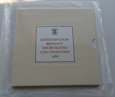 1986 Royal Mint UK Brilliant Uncirculated Coin Collection
