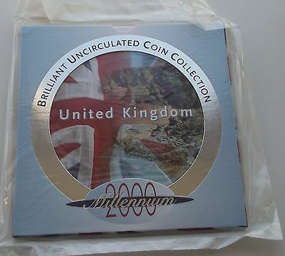 2000 Millennium Royal Mint UK Brilliant Uncirculated Coin Collection