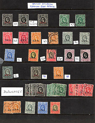 British occupation German East Africa assorted used/mint good