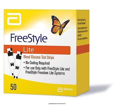 Freestyle Lite Blood Glucose Test Strips x 50 - Brand New - Long Expiry