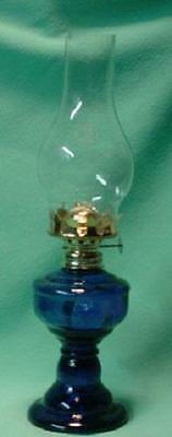 Cobalt Blue Glass Oil Lamp