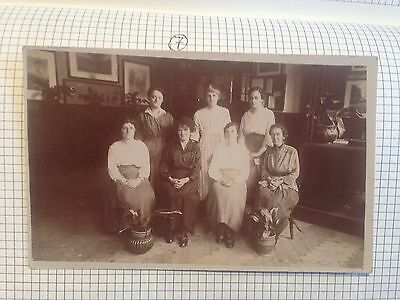 Unkown Ladies Family Gatherning Early Postcard