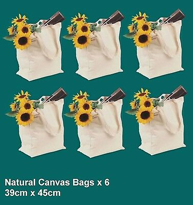 Arty's 100% Quality Cotton Canvas Tote Bag x 6 - Ideal Painting Project