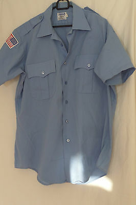 Two American Blue Retro Short Sleeve Police Shirts