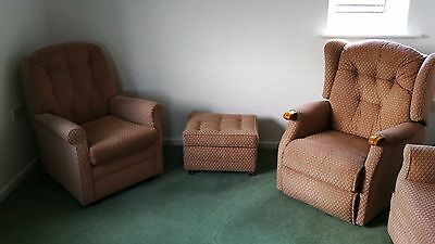 Sherborne Riser Recliner, Matching Armchair and Pouffe