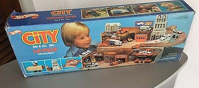 1980# Vintage Hot Wheels City Sto & Go Set Playset in Box#FULL