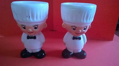 Pair of Vintage Hong Kong Plastic Egg Cups-Cook/Chef/Baker