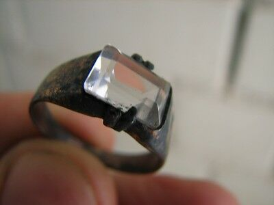 Very Nice Vintage Silver Ring With Stone ! #5408