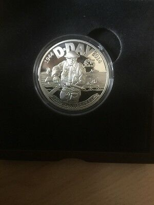 JERSEY Silver Proof £5 Pounds 2014 D DAY ANNIVERSARY + numbered COA