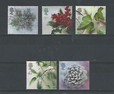 Gb 2002 Christmas Sg2321/5 Fine Used Set