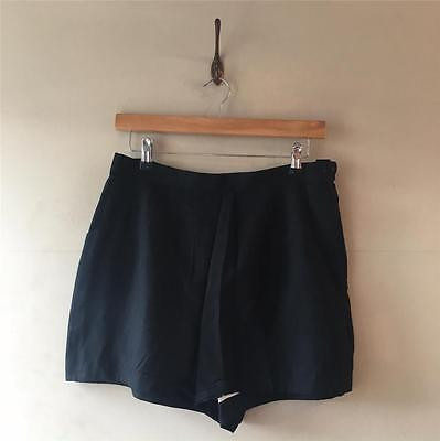 True Vintage 1950s Fred Perry Black Cotton High-Waisted Shorts UK12