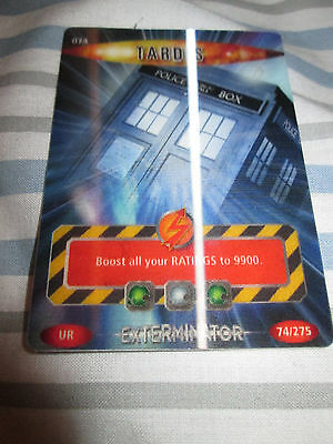 Dr Doctor Who - Battles in Time Ultra Rare Card. Number 74 - TARDIS