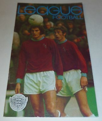 League Football Magazine - Number 816 - Ted Hemsley on rear cover