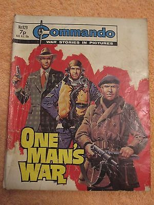 COMMANDO WAR STORIES IN PICTURES- ONE MAN's WAR- NO.929