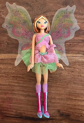 "Winx Club Doll Flora, 10"" Long,Small Dolly, Fairy, Made by Rainbow"