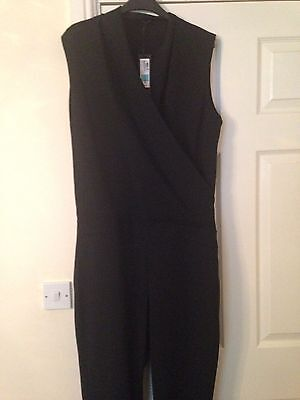 New Black Jumpsuit From Marks Size 14