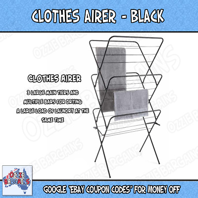 Laundry Clothes Airer Dryer Portable Indoor Clothes line Drying Hanger Line Rack