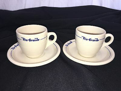 Denver Rio Grande Railroad Prospector Demitasse Syracuse China Cup & Saucer Sets