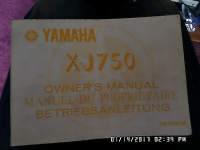 Yamaha Xj750 Owners Manual **very Clean Condition**