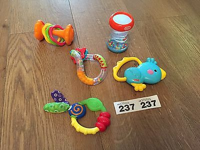 5 X Sensory Rattles For Baby