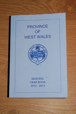 2012-2013 Masonic Calendar and Year Book - Province of WEST WALES