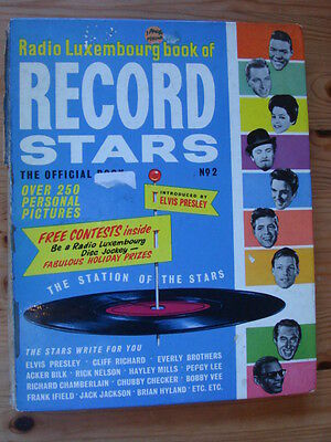 RADIO LUXEMBOURG  Book of Record Stars No.2 book 1963, BeatlesBilly Fury, Elvis