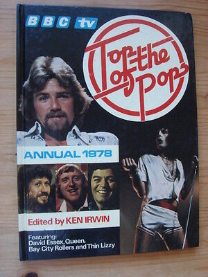 """""""TOP OF THE POPS"""" hardback Annual 1978, Abba, Marley, Wings, Elton, Tull, Lizzy"""