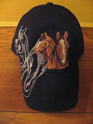 Eye-Catching Embroidered Horse Baseball Cap is Mane Event!