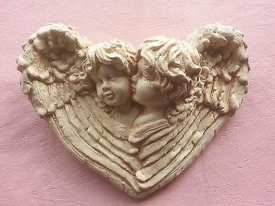 Cherub Angel Wings rubber latex mould mold wall decor plaque home garden use new