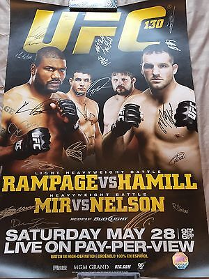 Signed SBC UFC 130 Rampage Vs Hamill Event Poster