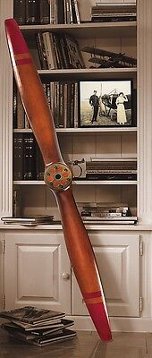 "Wwi Decorative 73"" Wood Airplane Plane Aircraft Propeller Aviation Wall Decor"