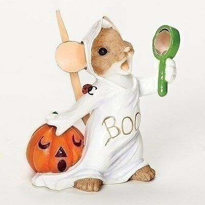 Charming Tails I Even Scare Myself Halloween Ghost Mouse Figurine NEW 30392 2016