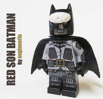 LEGO Custom -- Red Son Batman - DC Batman Arkham Origins Minifigure knight dark