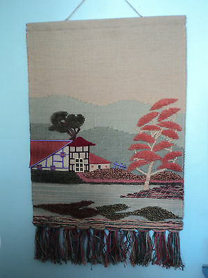 Woven Jute Textile Art Wall Hanging- Mid Century House