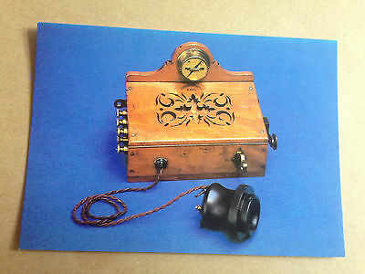 First Telephones Used By Post Office 1878 Items Series Postcard British Telecome