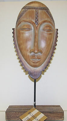 Bombay African Tribal Mask Table Décor NEW With Tag
