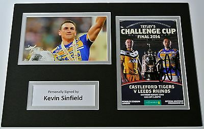 Kevin Sinfield SIGNED autograph A4 Photo Mount Display Leeds Rhinos & PROOF COA