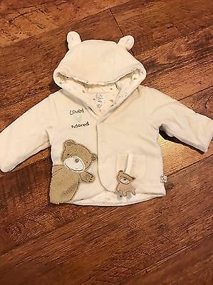 Mothercare Baby Soft Coat Jacket 0-3 Months