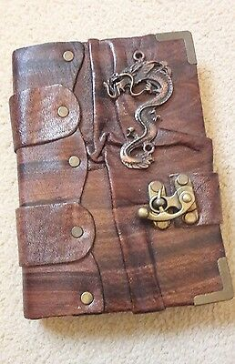 Brown faux leather Dragon notebook/diary/notepad NEW Gift Steampunk Goth Vintage