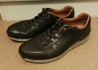 Men's ecco brown leather shoes size uk 10 size 44 excellent condition