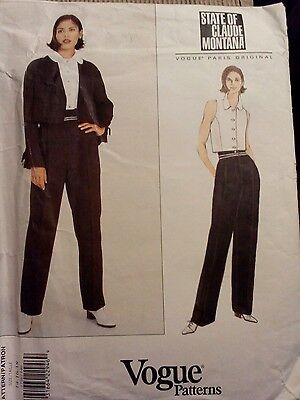 Vogue sewing pattern ladies trousers blouse and jacket 14-18