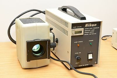 Nikon Microscope Fluorescence HBO Lamphouse and Power Supply, HB-10101AF