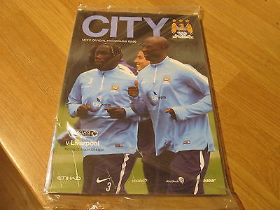 SUPERB BAGGED Manchester City v Liverpool Football Programme 2015 + City Stories
