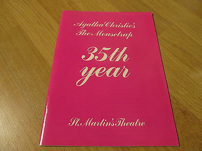 Agatha Christie The Mousetrap Murder Mystery 35th Year Theatre Programme 1987