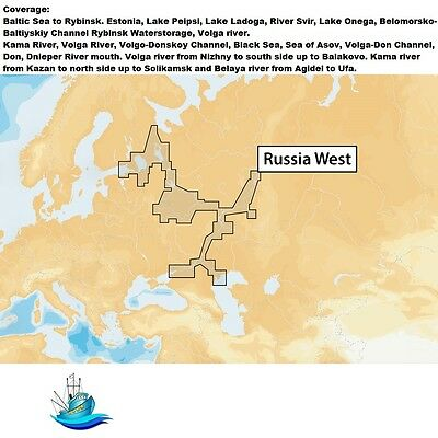 Navionics+ Russia West - MicroSD™ Nautical Charts Plus Daily Updates