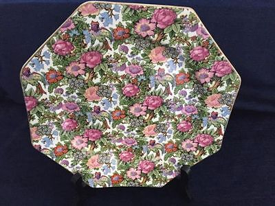 Vintage A.G.R. Decorative 8 Sided Plate With Floral Design