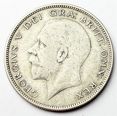 1928 Half Crown - KING GEORGE V - 0.500 Silver - Coin. GB - old money