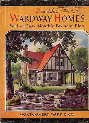 1929 Wardway Home Kit catalog - 68 homes shown Montgomery Ward