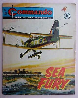 Commando War Comic - No. 168 - SEA FURY - June 1965