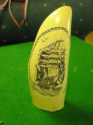 "Collectable Replica SCRIMSHAW ...Sailboat   4.75"".................SALE"